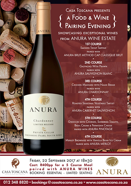 Wine Food Pairing ANURA MENU sml