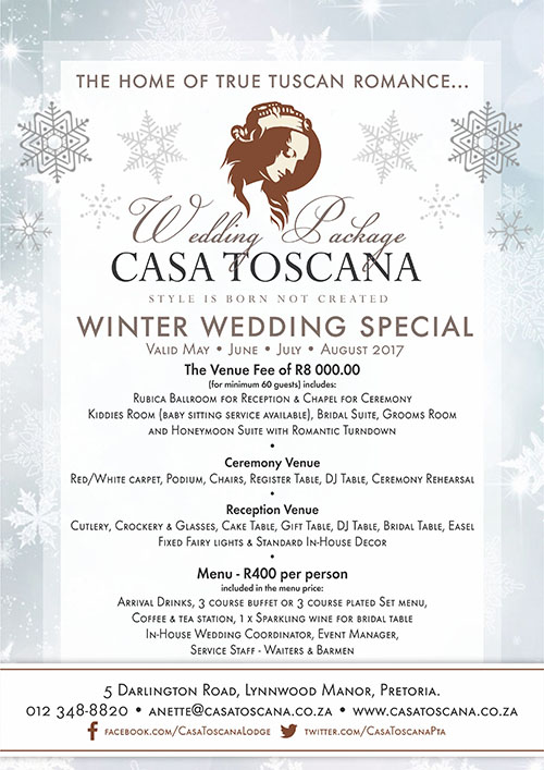 Winter Special Weddings